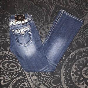 Miss Me 27x32.5 Medium wash boot cut jeans
